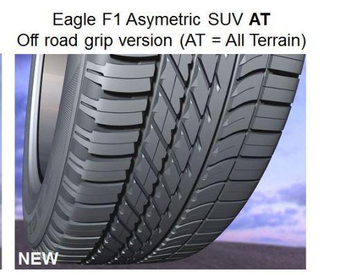 Letní pneumatika Goodyear EAGLE F1(ASSYM)SUV AT 255/50R20 109W XL (LR)