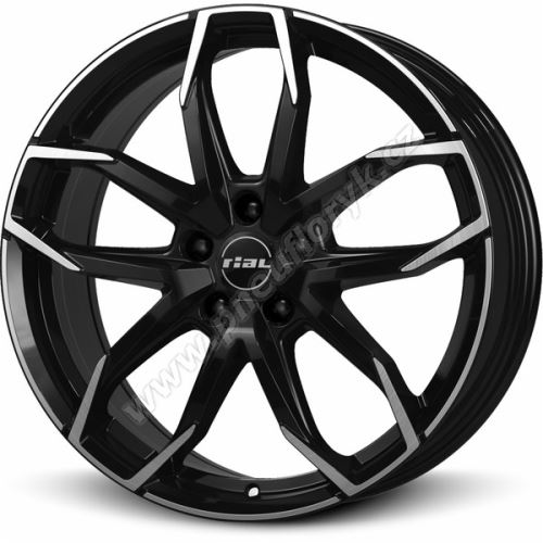 Alu disk RIAL Lucca 6.5x17, 4x100, 63.4, ET45 diamond-black frontpolished