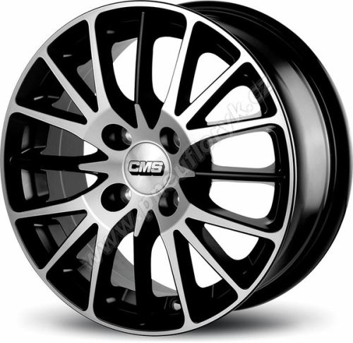 Alu disk CMS C17 6x15, 4x100, 67.1, ET40 Diamond Matt Black