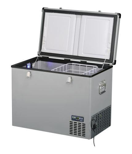 Přenosná kompresorová autochladnička Indel B TB130 Steel 12/24/230V 130 litrů