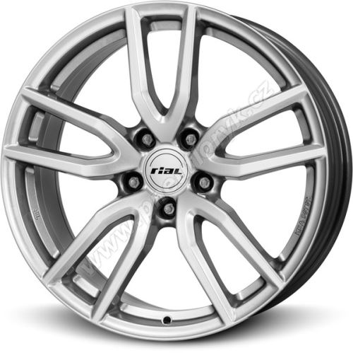 Alu disk RIAL Torino 6.5x16, 5x105, 56.6, ET40 polar-silver