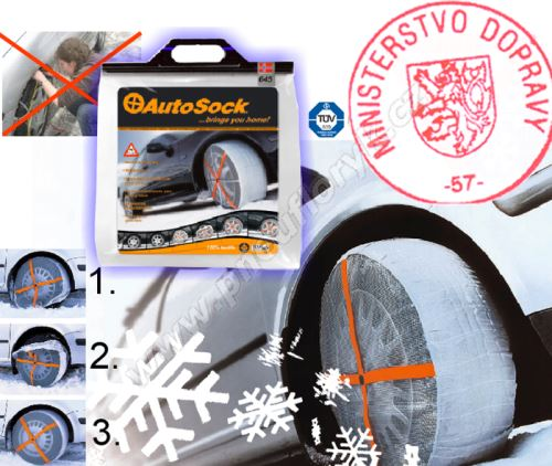 Textilní sněhové řetězy AUTOSOCK velikost 620